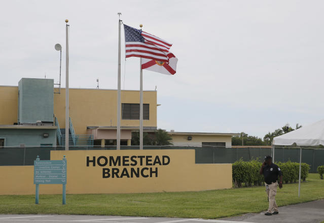 The Homestead Temporary Shelter for Unaccompanied Children in Homestead, Fla. (Photo: Joe Skipper/Getty Images)