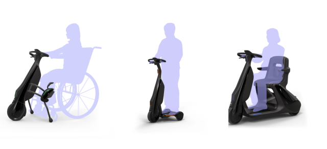 Toyota's wheelchair, standing, and seated electric models.