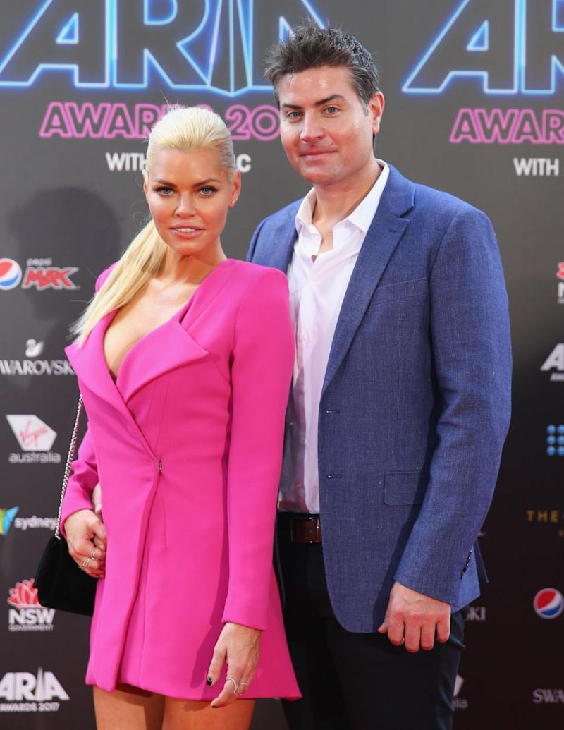 Sophie and Stu at the ARIA awards together last year. Source: Getty