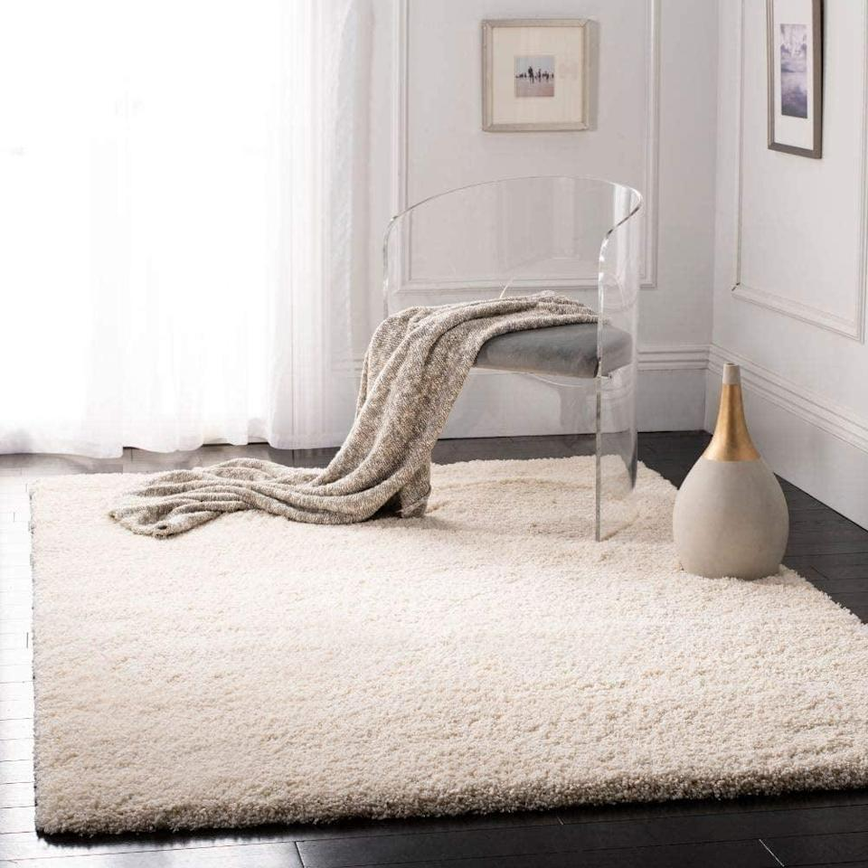 <p>This minimalist <span>Safavieh California Premium Shag Rug</span> ($188, originally $209) is perfect for any room. It also features a thick pile, which makes the texture even more plush.</p>