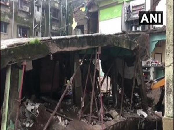 A visual after the building collapsed in Bhiwandi, Maharashtra. Photo/ANI