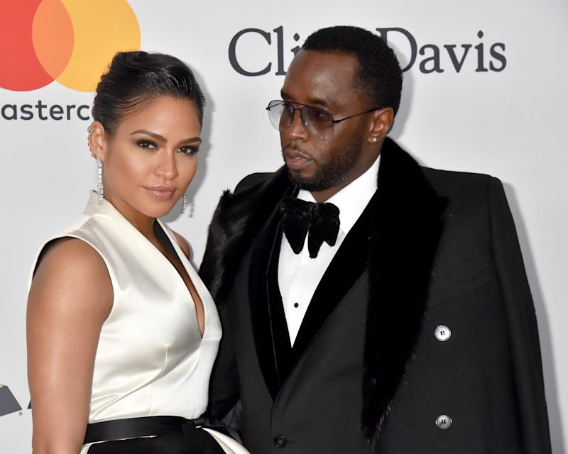 Sean 'Diddy' Combs and Cassie attend the Clive Davis and Recording Academy Pre-GRAMMY Gala in New York City. More