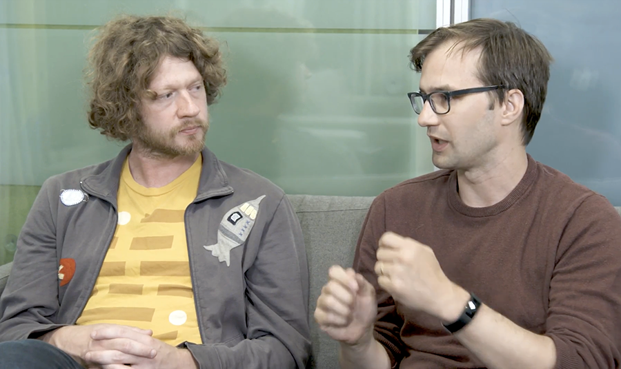 Andy Pratt (left) is the features lead, and Ryan Germick is the principal designer, of Assistant's personality.