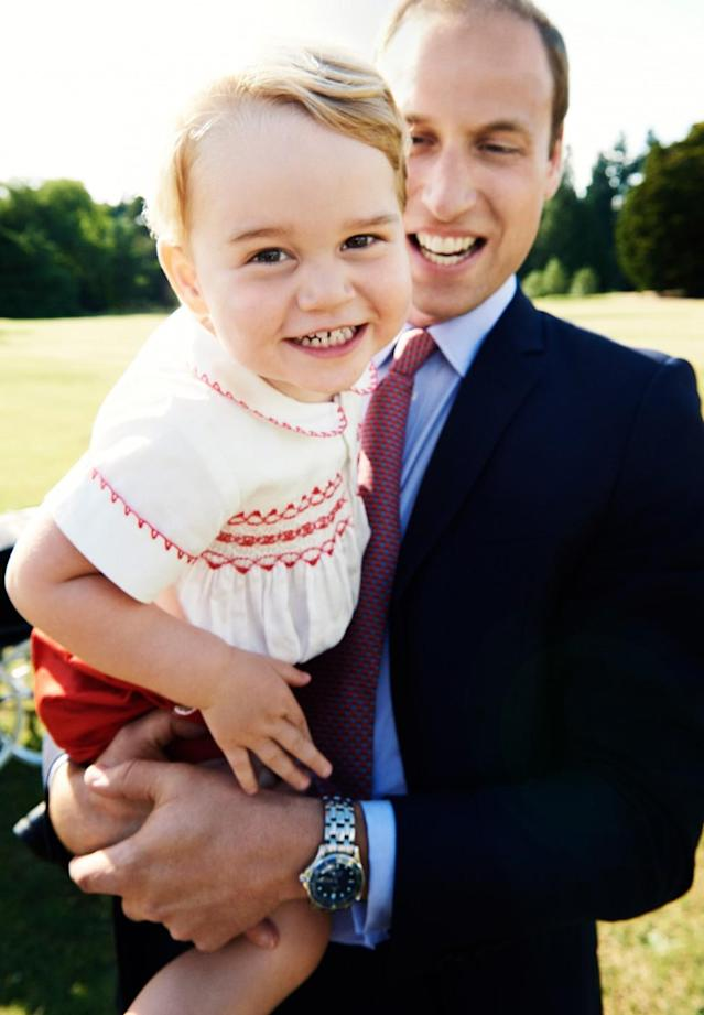 Famed photographer Mario Testino took Prince George's second birthday photo, at Princess Charlotte's christening. (Photo: Mario Testino/PA Wire)
