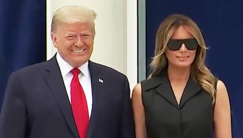 melania trump fake smile