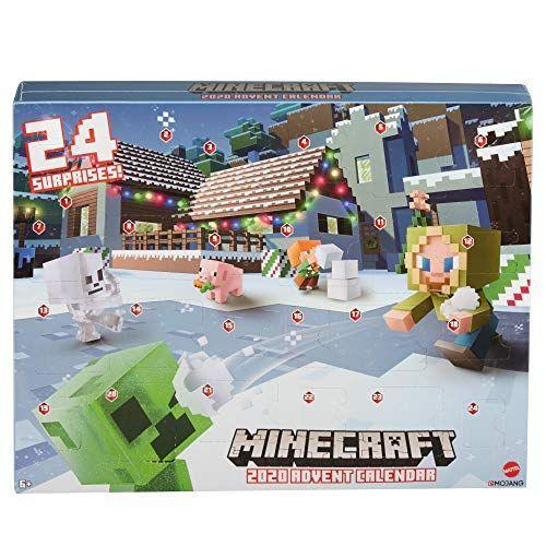 "<p><strong>Minecraft</strong></p><p>amazon.com</p><p><strong>$29.99</strong></p><p><a href=""https://www.amazon.com/dp/B085VZCHJP?tag=syn-yahoo-20&ascsubtag=%5Bartid%7C10055.g.28939299%5Bsrc%7Cyahoo-us"" rel=""nofollow noopener"" target=""_blank"" data-ylk=""slk:Shop Now"" class=""link rapid-noclick-resp"">Shop Now</a></p><p>Though it's not in stock right now, we can't wait for this 2020 Advent Calendar (and have high hopes it'll return soon). For older kids, these Minecraft mini figures are the perfect holiday treat. The set includes a polar bear, snow Golem and a Steve wearing a holiday hoodie. <em>Ages 6+</em></p>"