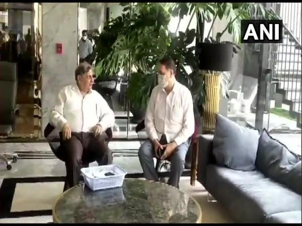 Maharashtra Minister Dilip Walse Patil met SII Chairman and Managing Director Cyrus Poonawalla on Friday. (Photo/ANI)