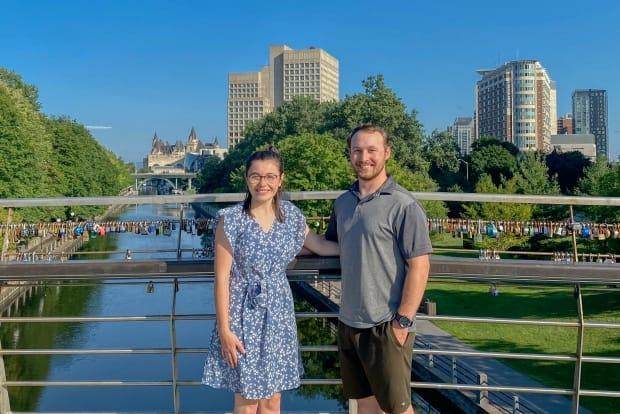 Claire Poulin and Devin Empey met in a first-year math class at the University of Ottawa. Now about to begin their fourth year, they plan to move in together in September. (Devin Empey - image credit)
