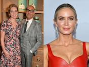 """<p>After working with Stanley Tucci on the iconic Devil Wears Prada in 2006, Emily set the actor up with her sister, literary agent Felicity Blunt. They've been married since 2012.<br><br><br><strong>Cosmopolitan UK's current issue is out now and you can </strong><a href=""""https://www.hearstmagazines.co.uk/cosmopolitan-magazine-subscription-website?utm_source=cosmopolitan.co.uk&utm_medium=referral&utm_content=article"""" rel=""""nofollow noopener"""" target=""""_blank"""" data-ylk=""""slk:SUBSCRIBE HERE"""" class=""""link rapid-noclick-resp""""><strong>SUBSCRIBE HERE</strong></a><strong>.</strong><br><strong><br></strong></p><p><strong>Like this article? </strong><a href=""""https://hearst.emsecure.net/optiext/optiextension.dll?ID=nPTl681bgeiKhoMTpW31pzPluR1KbK8iYdv56%2BzY5rdcCoNqPYqUsTx_%2BXEjZKPdzGeMe03lZk%2B1nA"""" rel=""""nofollow noopener"""" target=""""_blank"""" data-ylk=""""slk:Sign up to our newsletter"""" class=""""link rapid-noclick-resp""""><strong>Sign up to our newsletter</strong></a><strong> to get more articles like this delivered straight to your inbox.</strong><br></p>"""