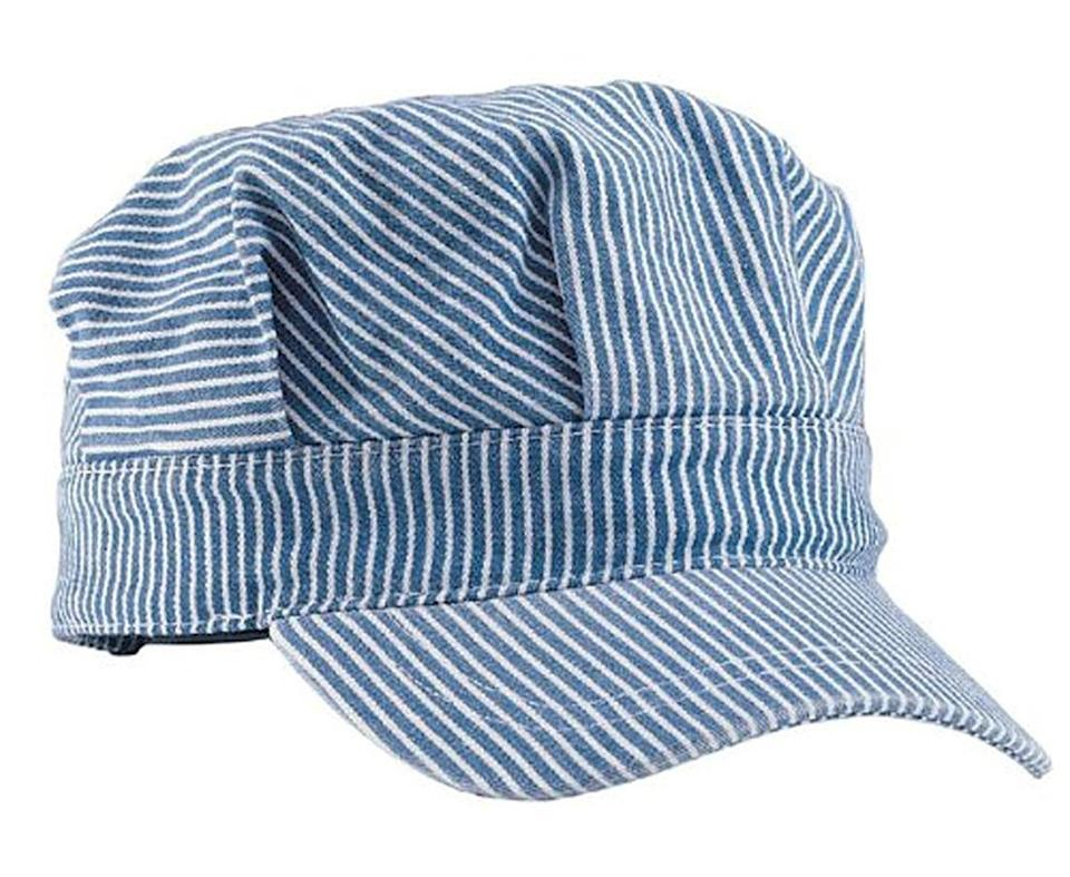 <p>If your child loves trains, this <span>Mega Cap Adjustable Train Engineer Hat </span> ($11) is perfect.</p>