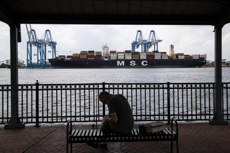 This photo shows the MSC Gayane container ship on the Delaware River in Philadelphia, Tuesday, June 18, 2019. U.S. authorities have seized more than $1 billion worth of cocaine from a ship at a Philadelphia port, calling it one of the largest drug busts in American history. The U.S. attorney's office in Philadelphia announced the massive bust on Twitter on Tuesday afternoon. Officials said agents seized about 16.5 tons (15 metric tons) of cocaine from a large ship at the Packer Marine Terminal.