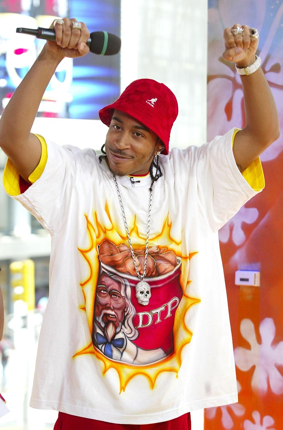 <p>Ludacris stopped by MTV Studios for <b>TRL</b> in 2003.</p>