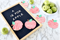 """<p>To give those apple crafts a different texture, try painting bubble wrap and using it as a stamper. Hint: It's easier to use if you wind the bubble wrap around a cardboard tube.</p><p><em><a href=""""https://www.somewhatsimple.com/bubble-wrap-painted-apples-craft/"""" rel=""""nofollow noopener"""" target=""""_blank"""" data-ylk=""""slk:Get the tutorial at Somewhat Simple »"""" class=""""link rapid-noclick-resp"""">Get the tutorial at Somewhat Simple »</a></em></p>"""