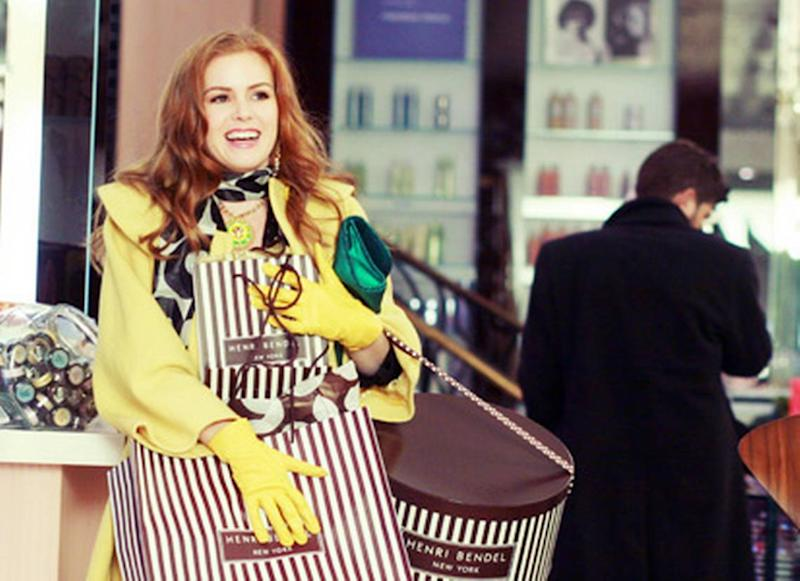 Pictured: Isla Fisher plays Rebecca Bloomfield in Confessions of a Shopaholic.