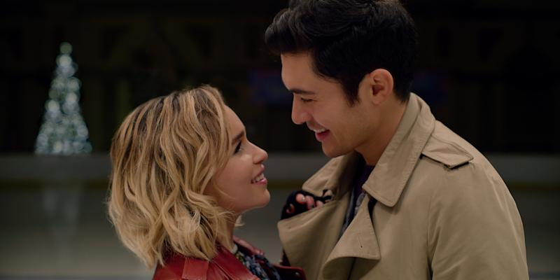 Emilia Clarke and Henry Golding in Last Christmas.