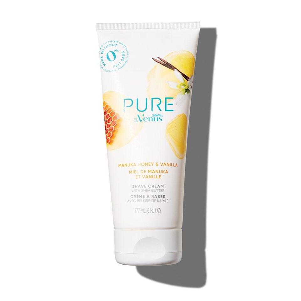 """<p><em>Allure</em> editors love Gillette VenusPure Shaving Cream Manuka Honey and Vanilla so much, they gave it a <a href=""""https://www.allure.com/gallery/best-of-beauty-body-skin-care-product-winners?mbid=synd_yahoo_rss"""" rel=""""nofollow noopener"""" target=""""_blank"""" data-ylk=""""slk:2020 Best of Beauty Award"""" class=""""link rapid-noclick-resp"""">2020 Best of Beauty Award</a>. That probably has something to do with the honey infusion that gives this formula a moisturizing effect and an obsession-worthy scent.</p> <p><strong>$12 for a pack of two</strong> (<a href=""""https://www.amazon.com/Gillette-Venus-Shaving-Manuka-Vanilla/dp/B07X7KNYF9?ref_=ast_sto_dp"""" rel=""""nofollow noopener"""" target=""""_blank"""" data-ylk=""""slk:Shop Now"""" class=""""link rapid-noclick-resp"""">Shop Now</a>)</p>"""