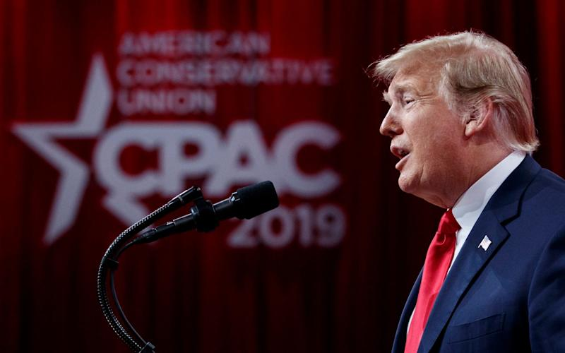 President Donald Trump speaks at Conservative Political Action Conference - AP