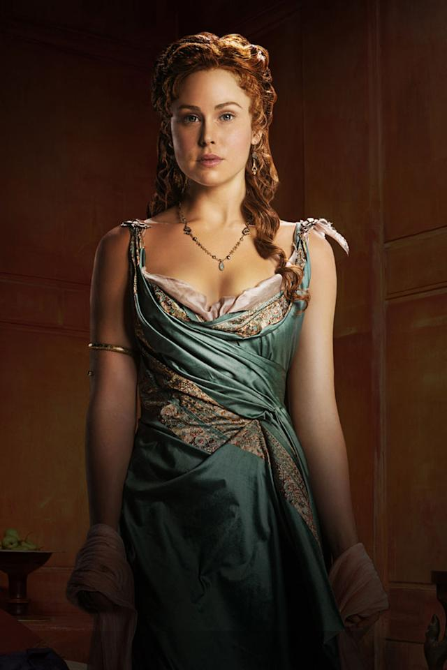 "Anna Hutchison as Laeta in ""Spartacus: War of the Damned"" on Starz."