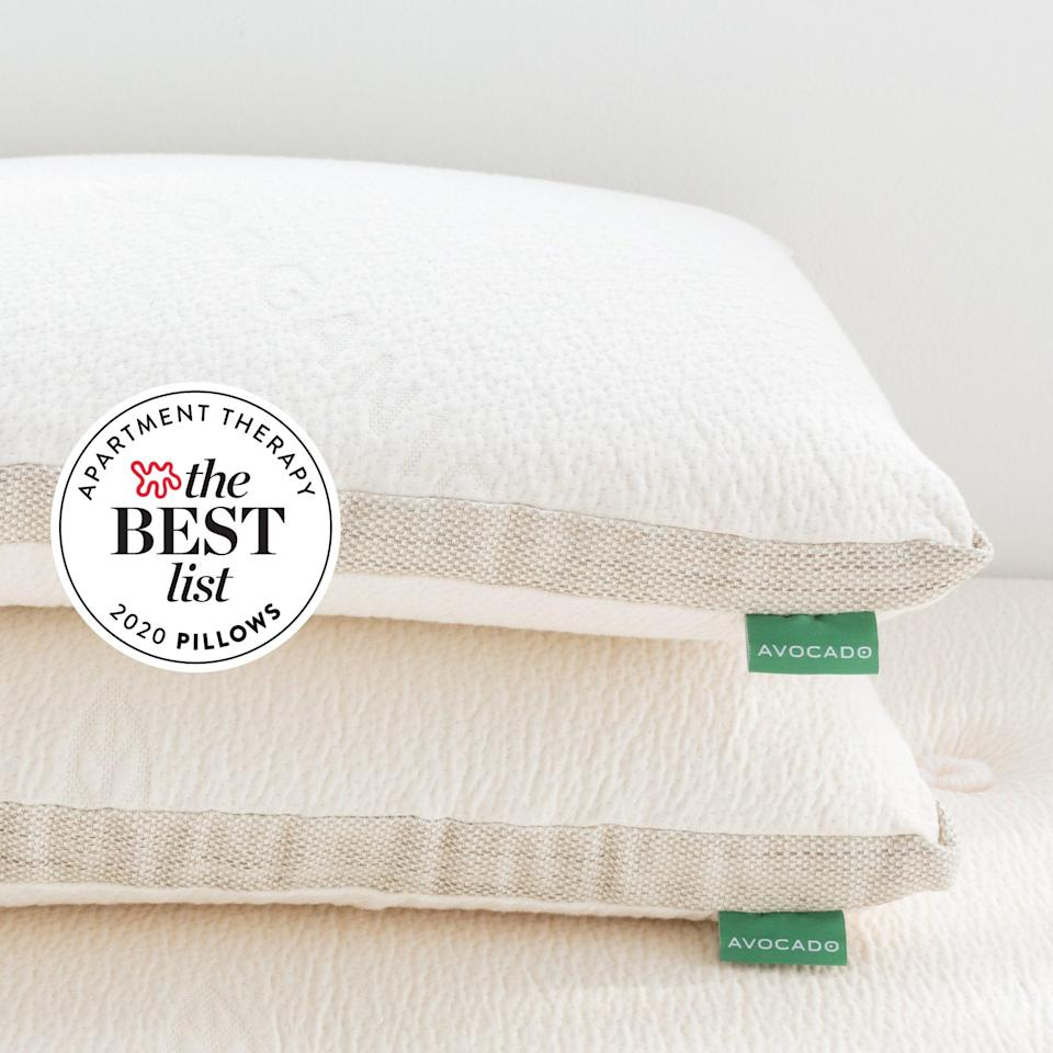 """<h2>Avocado Green Mattress Molded Latex Pillow</h2><br><strong>The Hype: </strong>4.4 out of 5 stars and 506 reviews on <a href=""""https://www.avocadogreenmattress.com/collections/pillows/products/molded-organic-latex-pillow"""" rel=""""nofollow noopener"""" target=""""_blank"""" data-ylk=""""slk:Avocado Green Mattress"""" class=""""link rapid-noclick-resp"""">Avocado Green Mattress</a><br><br><strong>Side Sleepers Say:</strong> """"These pillows are amazing!!! I always thought I liked soft fluffy pillows but couldn't find one I liked —turns out I was after the wrong thing. These pillows provide firm support but it's not hard at all, very soft and comfortable. Super supportive for side sleepers."""" — <em>Kaila, Avocado Mattress reviewer</em><br><br><em>Shop <strong><a href=""""https://www.avocadogreenmattress.com/collections/pillows"""" rel=""""nofollow noopener"""" target=""""_blank"""" data-ylk=""""slk:Avocado Green Mattress"""" class=""""link rapid-noclick-resp"""">Avocado Green Mattress</a></strong></em><br><br><strong>Avocado Green Mattress</strong> Avocado Molded Latex Pillow, $, available at <a href=""""https://go.skimresources.com/?id=30283X879131&url=https%3A%2F%2Fwww.avocadogreenmattress.com%2Fcollections%2Fpillows%2Fproducts%2Fmolded-organic-latex-pillow"""" rel=""""nofollow noopener"""" target=""""_blank"""" data-ylk=""""slk:Avocado Mattress"""" class=""""link rapid-noclick-resp"""">Avocado Mattress</a>"""