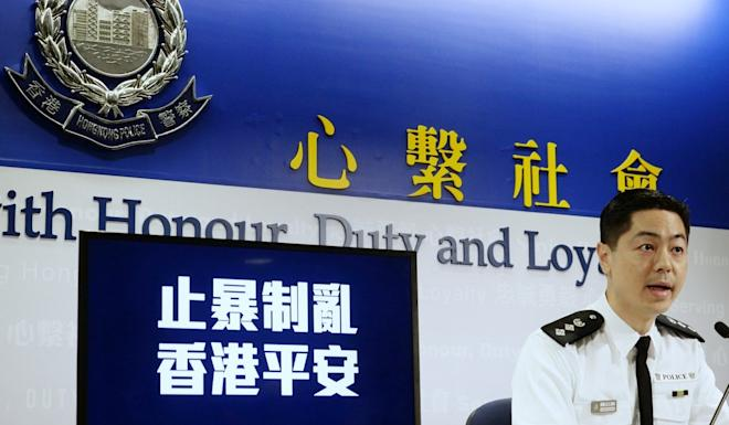 Chief superintendent of the Police Public Relations Branch Kenneth Kwok. Photo: Xinhua