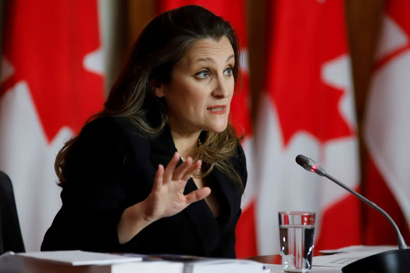 FILE PHOTO: Canada presents 2021 budget with stimulus for post-pandemic economic recovery, in Ottawa