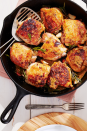 "<p>It smells good, it tastes good, <em>and</em> it looks good. We have a feeling your whole family will be asking you to make this chicken again and again.</p><p><strong><a href=""https://www.countryliving.com/food-drinks/a28942039/crispy-chicken-thighs-with-garlic-and-rosemary-recipe/"" rel=""nofollow noopener"" target=""_blank"" data-ylk=""slk:Get the recipe."" class=""link rapid-noclick-resp"">Get the recipe.</a></strong><br></p><p><strong><a class=""link rapid-noclick-resp"" href=""https://www.amazon.com/Skillet-GreaterGoods-Pre-Seasoned-Certified-Organic/dp/B07PP9TPRZ?tag=syn-yahoo-20&ascsubtag=%5Bartid%7C10050.g.680%5Bsrc%7Cyahoo-us"" rel=""nofollow noopener"" target=""_blank"" data-ylk=""slk:SHOP CAST IRON SKILLETS"">SHOP CAST IRON SKILLETS</a></strong></p>"