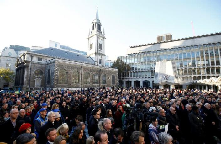 Vigil for victims of a fatal attack on London Bridge in London