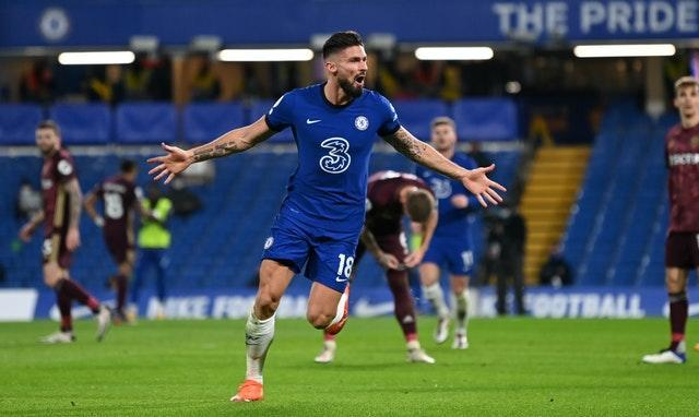 Olivier Giroud was on the scoresheet again for Chelse