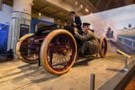 """This image provided by the The Henry Ford, shows the """"Sweepstakes"""" car, part of the Driven To Win exhibit at the The Henry Ford Museum in Dearborn, Mich. (Wes Duenkel/The Henry Ford via AP)"""