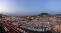 Aerial view of Mina area ahead of the annual Haj pilgrimage, in the holy city of Mecca