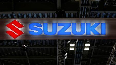 FILE PHOTO - The logo of Suzuki Motor Corp. is pictured at the 45th Tokyo Motor Show in Tokyo, Japan October 25, 2017. Picture taken October 25, 2017.  REUTERS/Toru Hanai