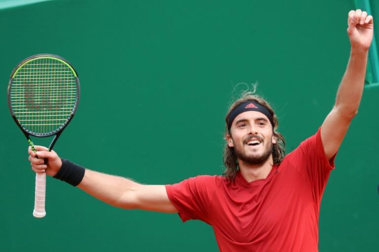 Masters degree: Greece's Stefanos Tsitsipas celebrates after winning the final in Monte Carlo against Russia's Andrey Rublev