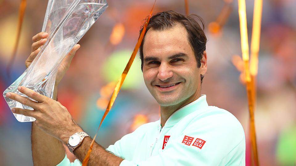 Seen here, Roger Federer is targeting a 2021 comeback after two knee surgeries.