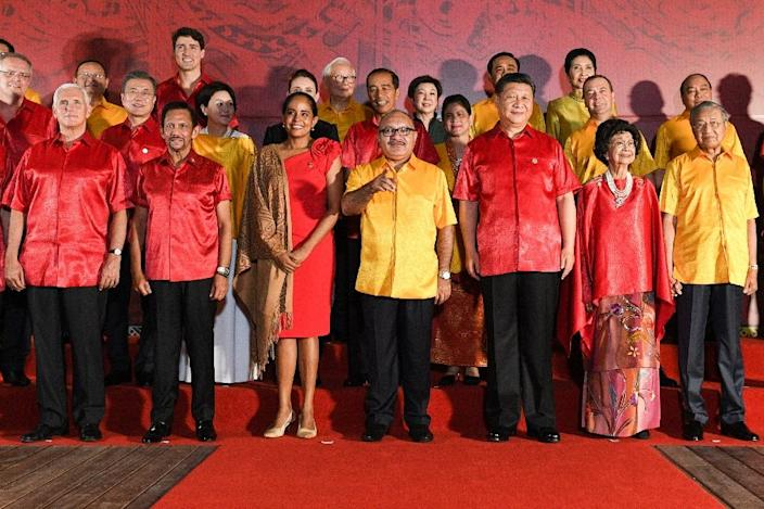 The APEC gathering ended without a communique for the first time in its history after a spat between Mike Pence and Xi Jinping (AFP Photo/SAEED KHAN)