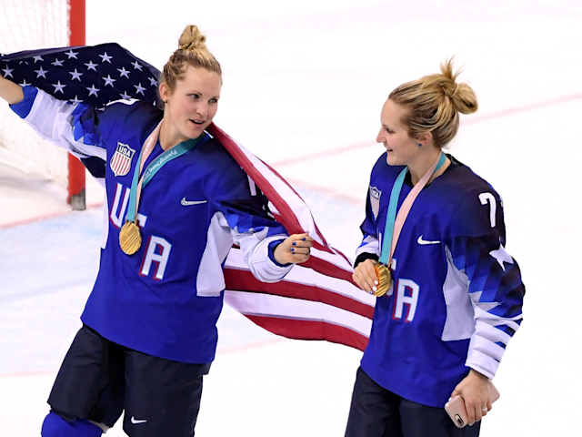 Jocelyn Lamoureux-Davidson and Monique Lamoureux-Morando were two crucial players for the U.S. women's hockey team.