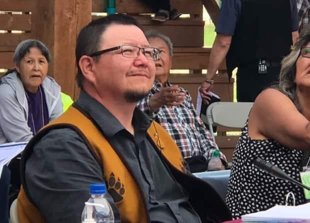 Kenny Cayen is the new grand chief of Dehcho First Nations in the Northwest Territories. (Anna Desmarais/CBC - image credit)