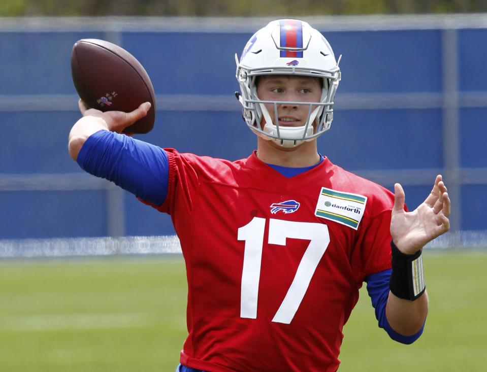 The Bills bet big on rookie Josh Allen, however he doesn't have to start right away in Buffalo. (AP)
