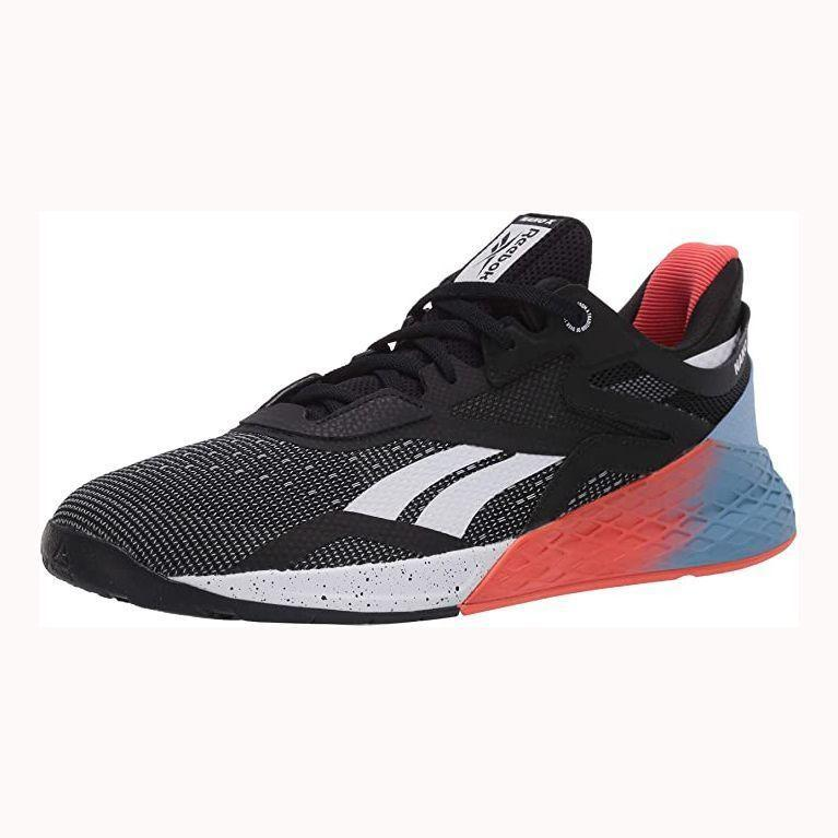 """<p><strong>Reebok</strong></p><p>amazon.com</p><p><strong>$109.39</strong></p><p><a href=""""https://www.amazon.com/dp/B07TB5KT5R?tag=syn-yahoo-20&ascsubtag=%5Bartid%7C2139.g.33501651%5Bsrc%7Cyahoo-us"""" rel=""""nofollow noopener"""" target=""""_blank"""" data-ylk=""""slk:BUY IT HERE"""" class=""""link rapid-noclick-resp"""">BUY IT HERE</a></p><p>Reebok's tenth iteration of its cross-training shoe, the <a href=""""https://www.menshealth.com/technology-gear/a34453089/reebok-nano-x-review/"""" rel=""""nofollow noopener"""" target=""""_blank"""" data-ylk=""""slk:Nano X shoe"""" class=""""link rapid-noclick-resp"""">Nano X shoe</a>, is a failsafe choice for its supportive feel. These will keep you comfortable during workouts and on walks if you opt to wear them as an all-day shoe. </p>"""