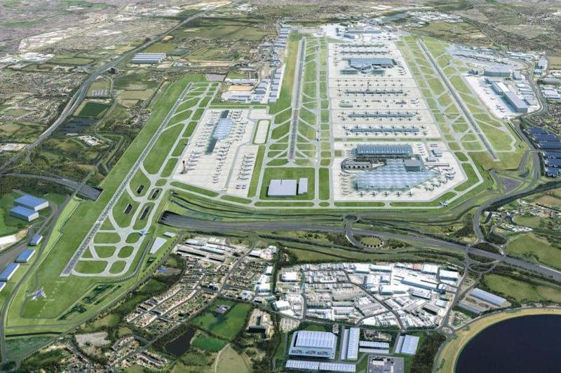 Extra space: the proposed third runway (left): Heathrow Airport