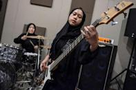 The hijab-wearing headbangers hope to play at premier US music festival Coachella one day