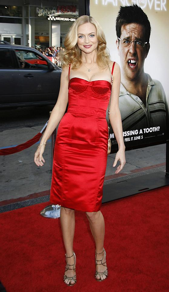 "<a href=""http://movies.yahoo.com/movie/contributor/1800018677"">Heather Graham</a> at the Los Angeles premiere of <a href=""http://movies.yahoo.com/movie/1810044687/info"">The Hangover</a> - 06/02/2009"
