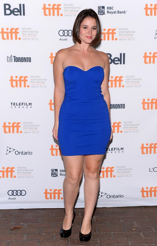 """WORST: Kether Donahue, star of Barry Levinson's upcoming found-footage horror flick """"The Bay,"""" is gorgeous and has an amazing figure -- and, no doubt, this dress certainly shows it off. But the outfit needs some accessories - a bracelet, and necklace, SOMETHING."""