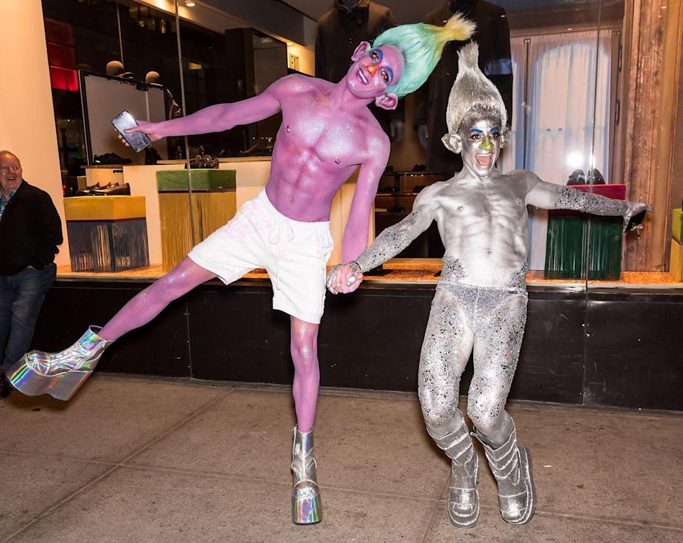 <p>Frankie Grande and his boyfriend, Daniel Sinasohn, took their couples costume into the fantasy world, dressing as characters from the movie <em>Trolls</em> in 2018. </p>