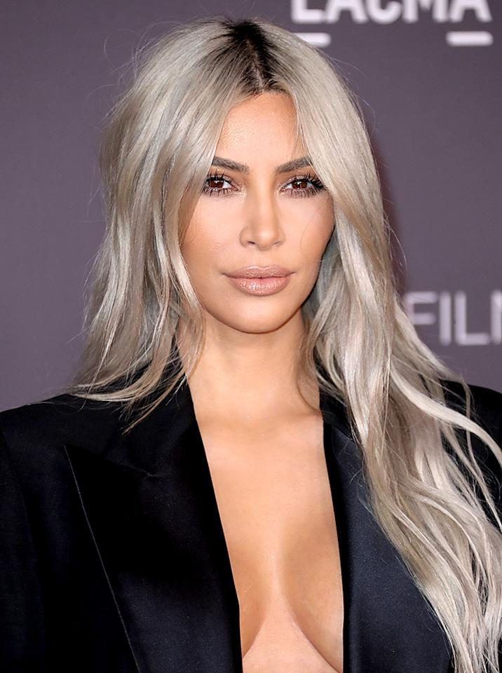 <p>At the 2017 LACMA Art and Film Gala, West sported platinum blond mermaid waves. (Photo: Image Press / BACKGRID) </p>