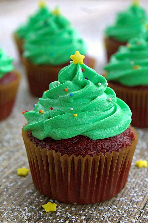 """<p>You know you'd rather decorate a cupcake tree.</p><p>Get the recipe from <a href=""""http://thissillygirlslife.com/2014/11/christmas-tree-frosted-cupcakes/"""" rel=""""nofollow noopener"""" target=""""_blank"""" data-ylk=""""slk:This Silly Girl's Kitchen"""" class=""""link rapid-noclick-resp"""">This Silly Girl's Kitchen</a>.</p>"""