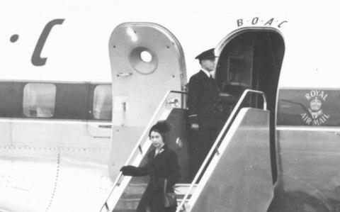The Queen returns to London in 1952 after the death of her father - Credit: Getty