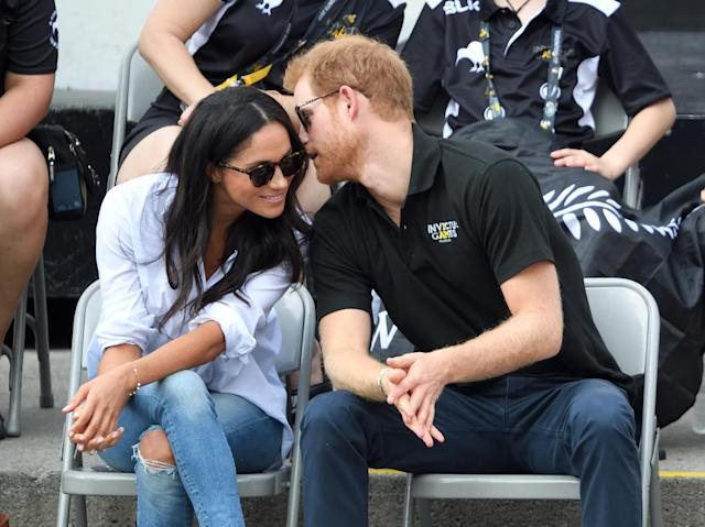 Meghan Markle and Prince Harry during their dating days. (Photo: Getty Images)