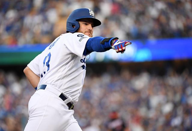 Max Muncy is reportedly getting a three-year contract extension with the Dodgers. (Photo by Harry How/Getty Images)