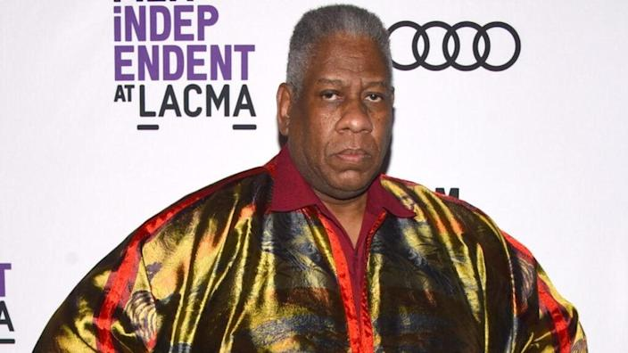 """Andre Leon Talley attends a special 2018 screening of """"The Gospel According To Andre"""" at Bing Theater at LACMA in Los Angeles. (Photo by Araya Diaz/Getty Images)"""