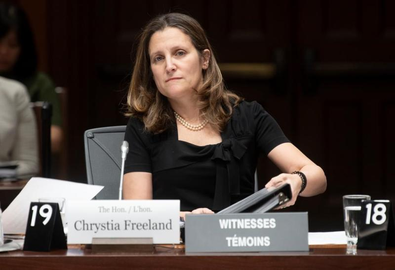 Freeland agrees to NDP trade pitch in return for new NAFTA support: letter